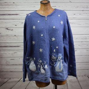 Croft & Barrow snowman sweater 3X